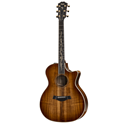 Among the first Taylor models to be voiced with our patented V-Class™ bracing, this beautiful all-koa Grand Auditorium K24ce acoustic guitar will inspire players in both looks and sound. The hardwood koa top helps produce a balanced response across the tonal spectrum, with a clear, focused voice that lends itself to amplification through our onboard ES2 electronics. With the V-Class treatment, players can expect more dynamic range, more sustain, and notes that sound more in tune with each other than ever before, giving chords a more sonically pleasing character along the entire fretboard. Together with our popular Grand Auditorium body, the musical versatility makes this a guitar that can cover a lot of ground. Visually, koa's shimmering figure is highlighted with organically styled appointments that include our new Spring Vine inlay in maple, with maple binding and top trim adding a creamy counterpoint against the shaded edgeburst finish that surrounds the entire guitar.
